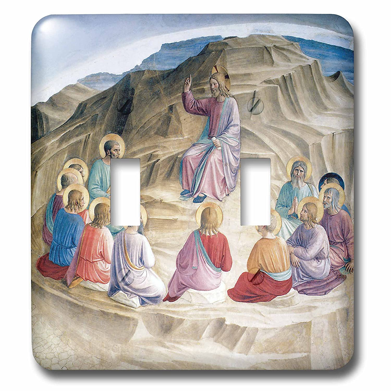 3dRose LSP/_130050/_2 The Sermon on The Mount by Fra Angelico Double Toggle Switch