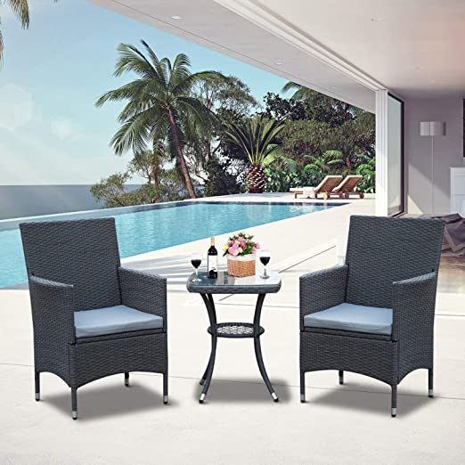 Outsunny - Juego de 2 sillones de Mimbre para jardín o ...