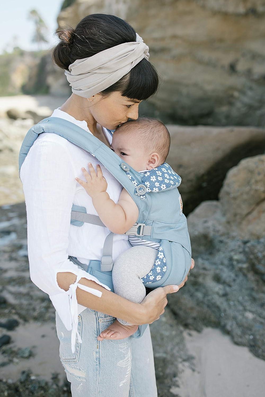 Blue Daisy Bauchtrage R/ückentrage Ergobaby Babytrage 4 Positionen Omni 360