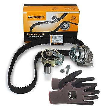 Contitech - Dientes correa de distribución ct1028 K3 + Bomba de agua + 100% se adapta para su vehículo + priner montaje Guantes: Amazon.es: Coche y moto