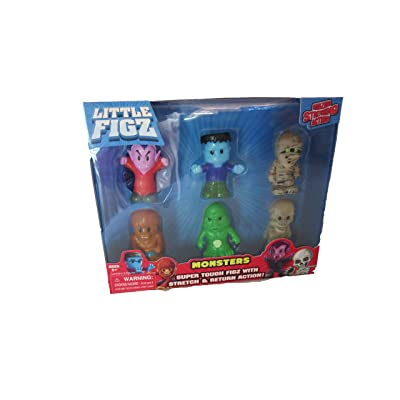 Little figz Series 1 Monsters with Leech Set of 6: Toys & Games