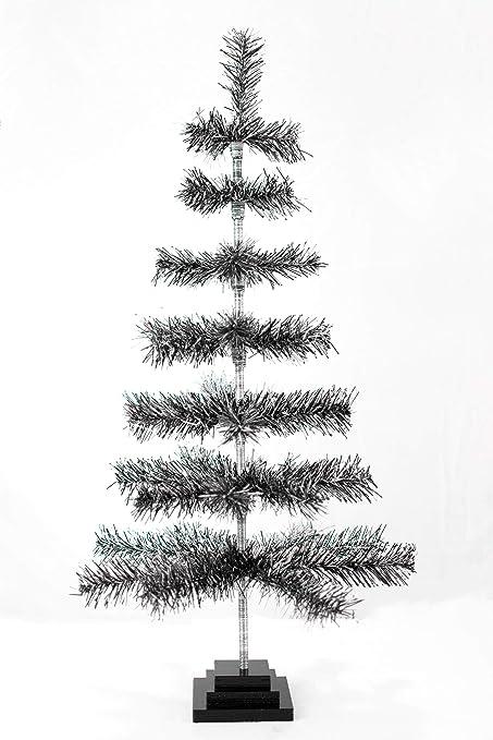 Amazon Com 36 Black Silver Christmas Tree Retro Style