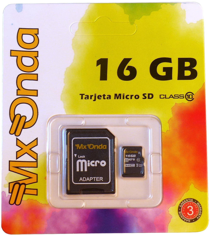 Mx Onda 457.68 - Tarjeta de memoria micro SDHC de 16 GB ...