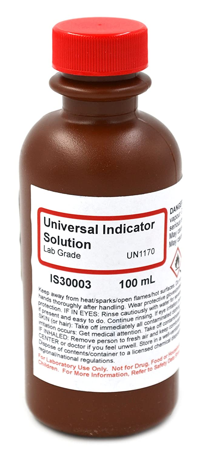 Lab-Grade Universal Indicator Solution, 100mL - The Curated Chemical Collection