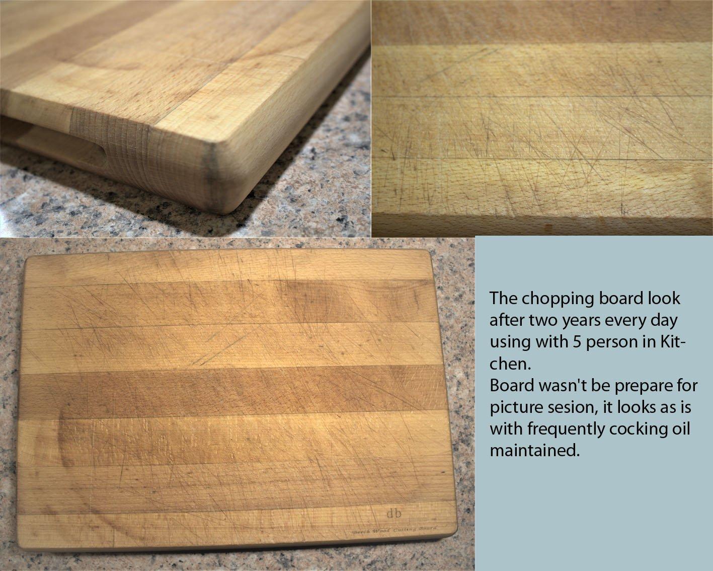 40/x 30,5/x 4,1/cm Big Planche /à d/écouper cuisine en BOIS DH/être 40/x 30/x 4/cm