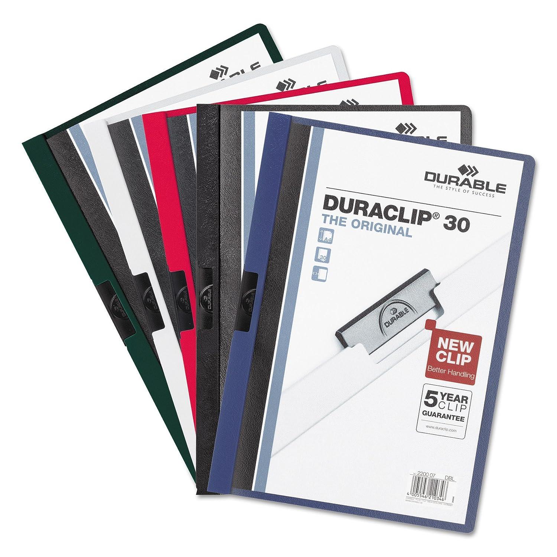 Strapazierfähiges Vinyl DURACLIP DURACLIP DURACLIP Bericht mit Clip, Brief, hält 30 Seiten, transparent schwarz (220301) 30 Sheet Capacity kastanienbraun B001B0AFW6 | Queensland  3826d0