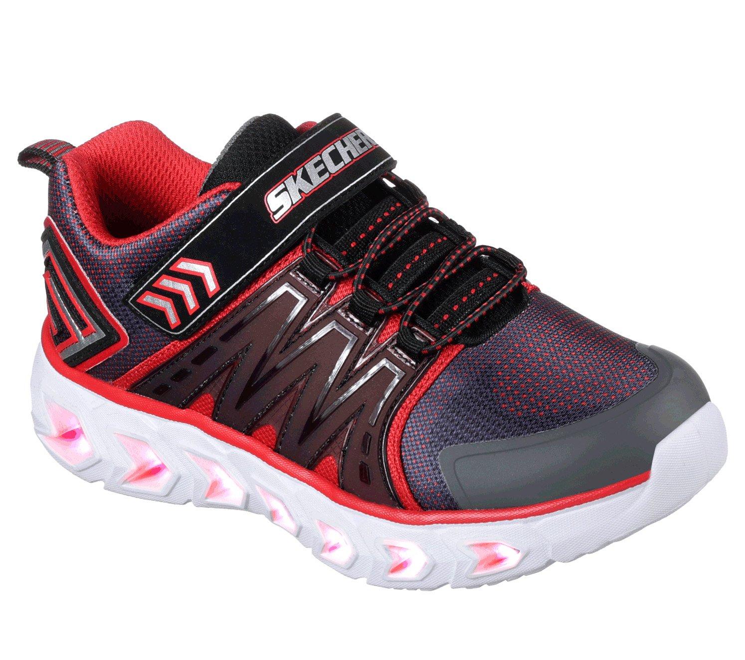 Skechers Kids Kids' Hypno-Flash 2.0 Sneaker,Charcoal/red,2.5 Medium US Little Kid