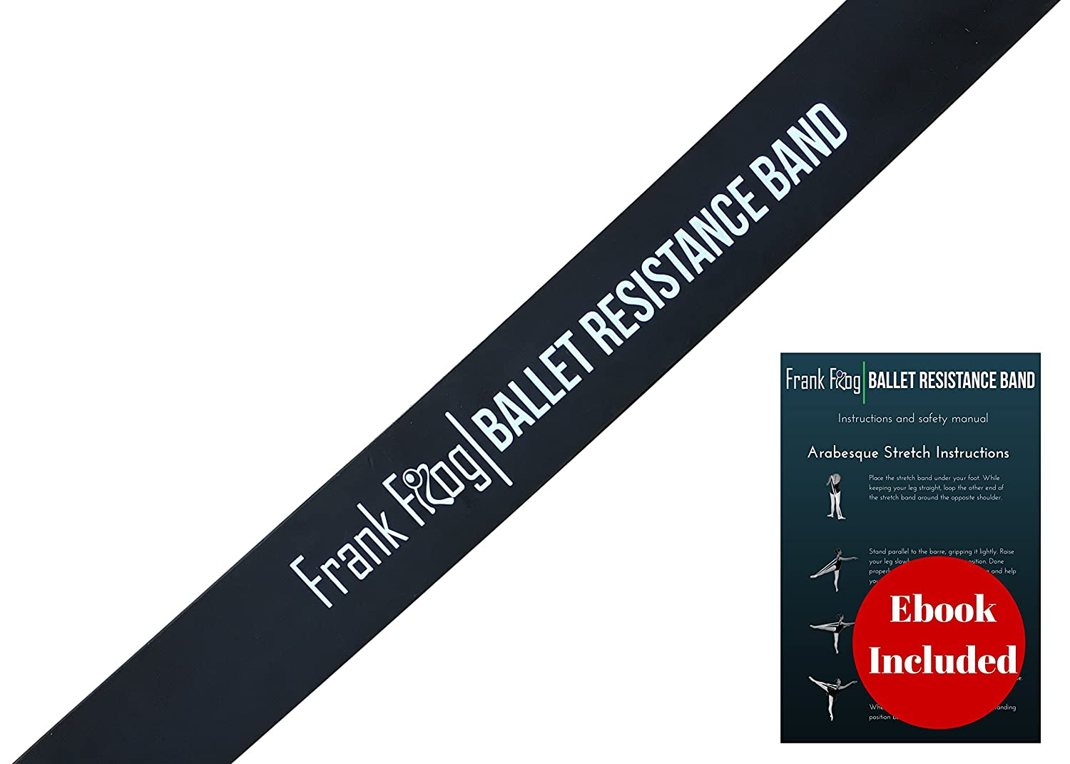 Ballet Stretch Band by Frank Frog /— Gymnastics Exercise Band /& Kinetic Band for Dance /— Latex Training Band for Injury Prevention /& Improved Stretching /— Great for Cheerleading Tumbling /& Martial Arts
