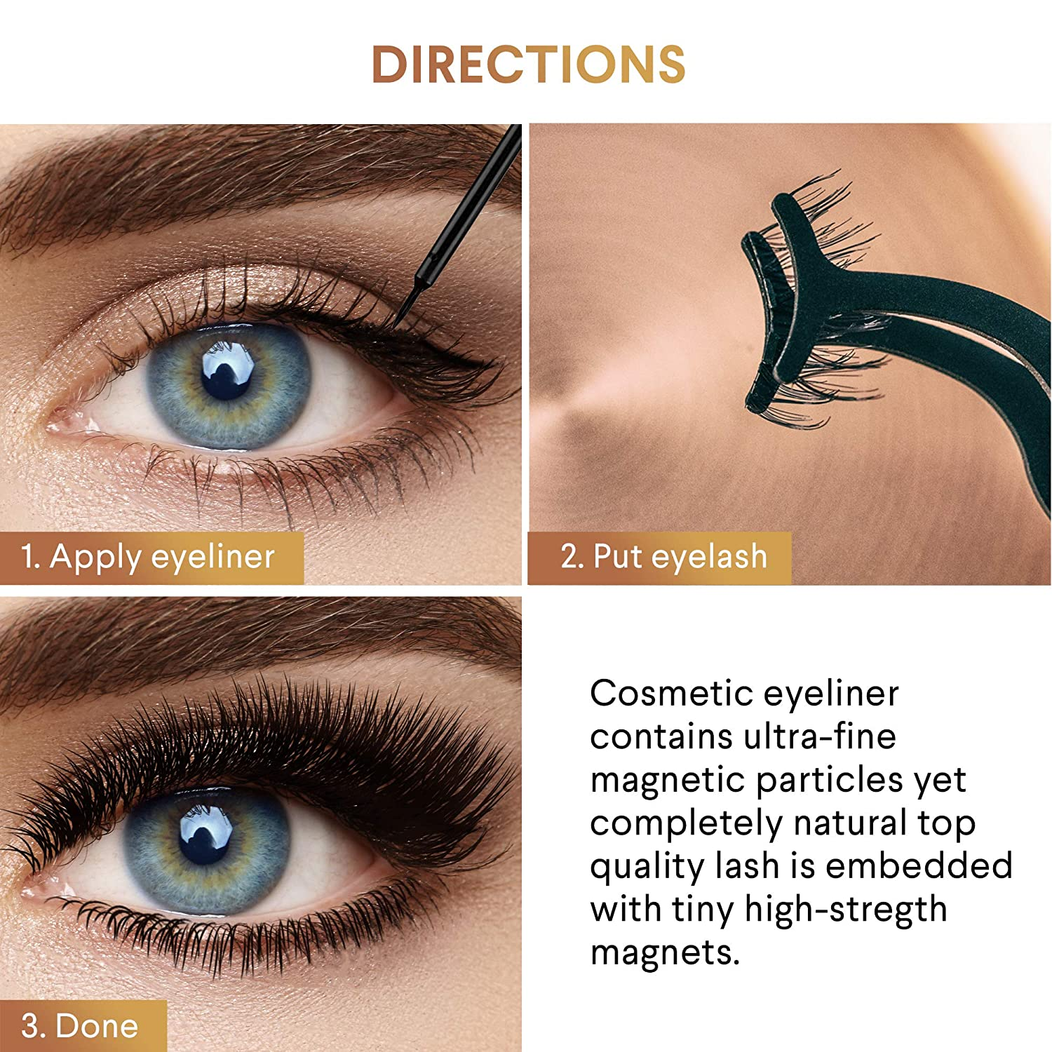 Coolours Magnetic Eyeliner With Magnetic Eyelashes Magnetic Eyelashes Kit False Lashes 4 Style with