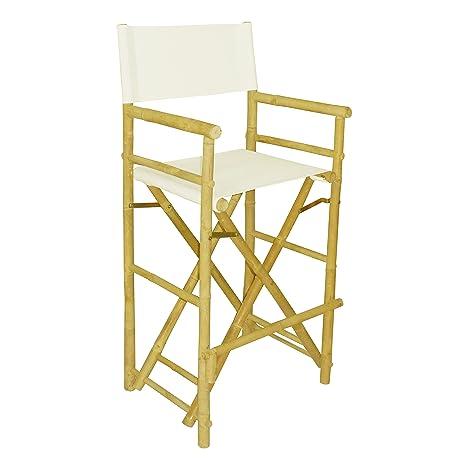 amazon com zero emission world bamboo high director chair white