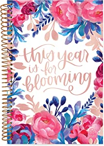 """bloom daily planners 2020 Calendar Year Day Planner Book - Soft Cover Weekly/Monthly Dated Agenda Organizer (January 2020 - December 2020) - 6"""" x 8.25"""" - This Year is for Blooming"""