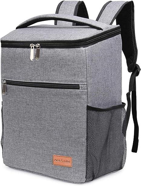 barbecue allaperto colore: grigio per lavoro borsa termica per ufficio 15 l Borsa termica per il pranzo da donna campeggio viaggi isolata con tracolla regolabile