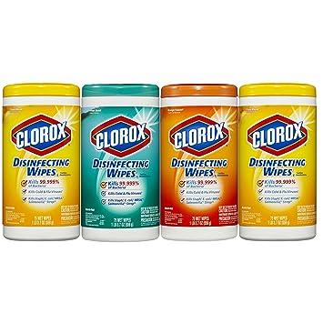 Clorox desinfección toallitas húmedas, cítricos mezcla, aroma fresco y naranja Fusion, 300 unidades: Amazon.es: Hogar