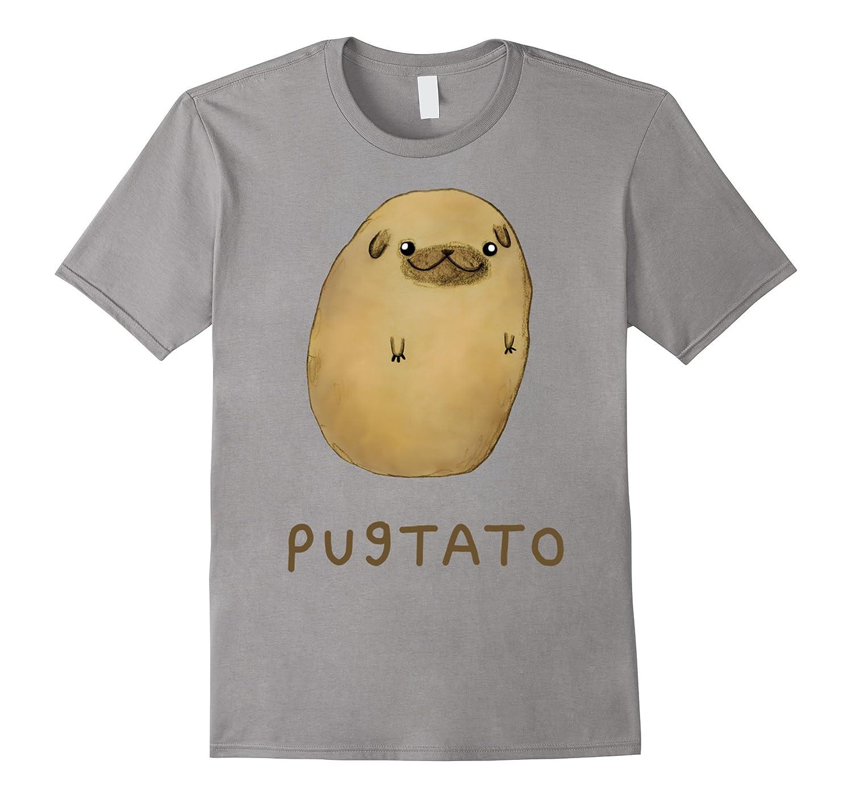 Funny Cute Dog Pug Potato T-Shirt-BN