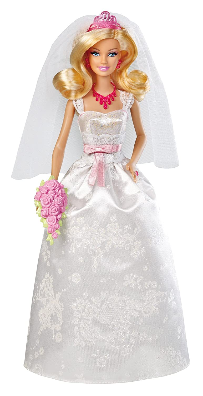 Mattel Barbie X9444 - Braut, Puppe mit Diadem, Halskette und Bouquet
