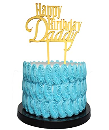 Incredible Happy Birthday Dad Cake Topper For Fathers Birthday Best Dad Personalised Birthday Cards Veneteletsinfo