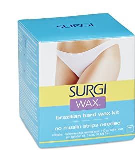 Surgi-wax Brazilian Waxing Kit For Private Parts, 4-Ounce Boxes (Pack of 3)