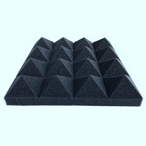 TOOGOO 12 pcs - Paneles de pared de tratamiento de piramide de absorcion de sonido de