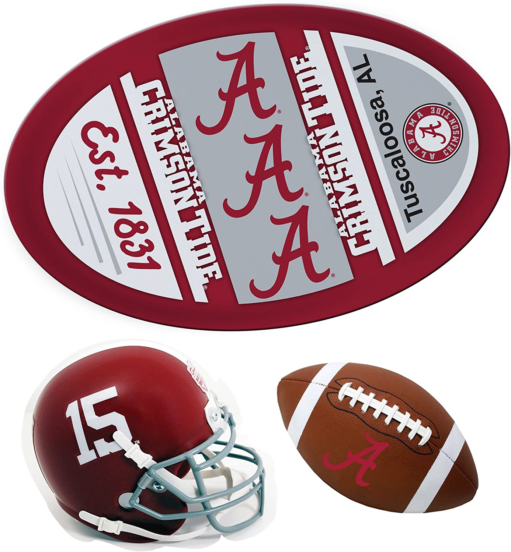 Alabama Crimson Tide Magnet AL HELMET MAGNET 3