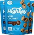 HighKey Snacks Keto Food Low Carb Snack Cookies, Chocolate Chip, 3 Pack - Gluten Free & No Sugar Added, Healthy Diabetic, Paleo, Dessert Sweets, Diet Foods