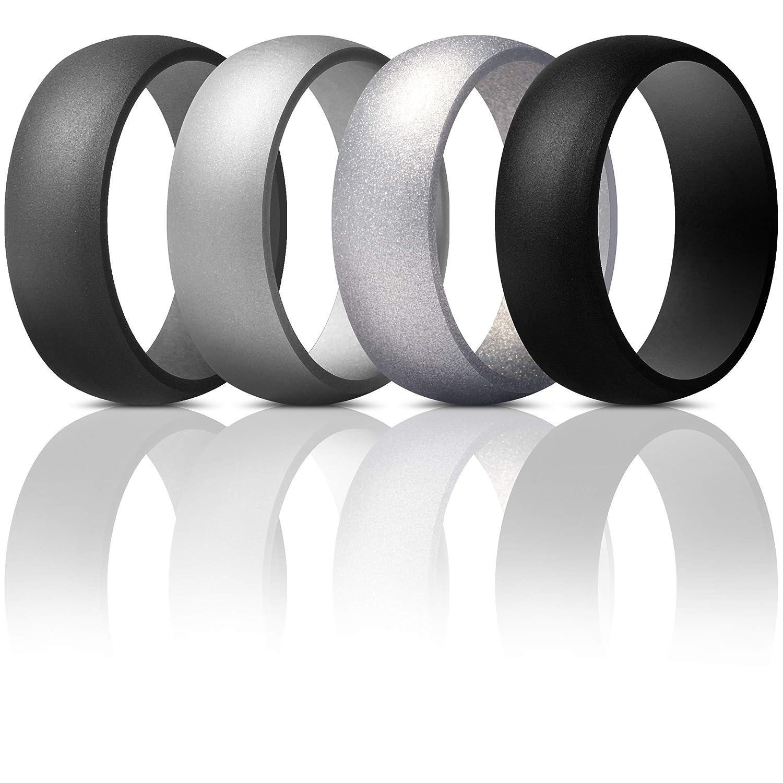 thunderfitメンズシリコンリング結婚指輪 – 4パック B07CN67FCS Silver, Grey, Black, Dark Grey, Dark Light 11.5 Grey 11.5 - 12 (21.3mm) 11.5 - 12 (21.3mm)|Silver, Black, Dark Grey, Light Grey, WORLD WING LIGHT:14952465 --- harrow-unison.org.uk