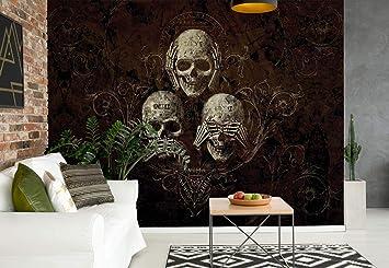 Nicht Horen Sehen Totenkopf Alchemy Wallsticker Warehouse Fototapete Tapete Fotomural Mural