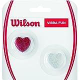 Wilson Vibra Fun vibración, para Raqueta de Tenis, Pack de 2, Color Rojo/Plata, wrz537100