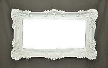Spiegel Spiegel groß weiß Bilderrahmen Barock Fake Vintage cm 96 x ...