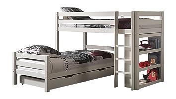 Etagenbett Doppelstockbett Günstig : Winkel etagenbett doppelstockbett hochbett mit bettschubladen ole
