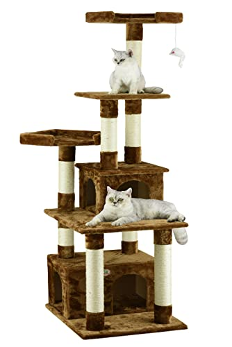 Go-Pet-Club-Cat-Condo,-67-Inch,-Brown