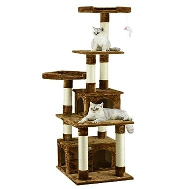 Go Pet Club   F206  Cat Tree Condo Scratcher Post Pet Bed Furniture , 67 inch , Black