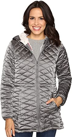 Steve Madden Women's Quilted Glacier Shield Coat Titanium Outerwear