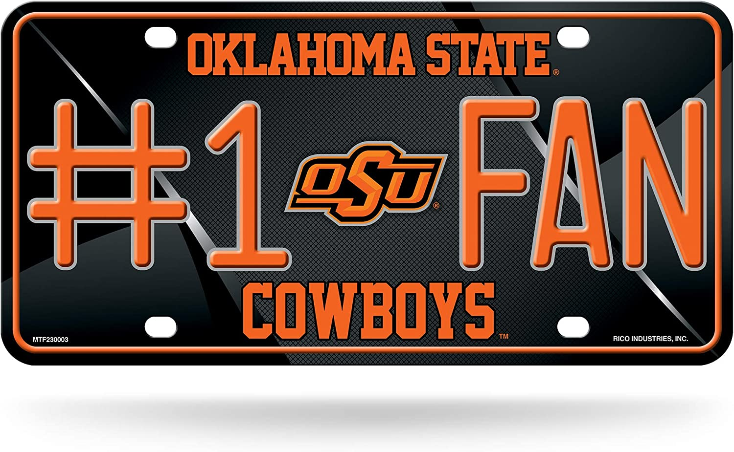 NCAA Oklahoma State Cowboys #1 Fan Metal License Plate Tag