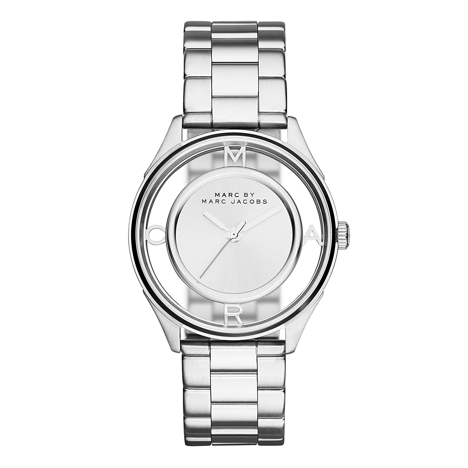 Marc by Marc Jacobs Women s MBM3412 Tether Analog Display Analog Quartz Silver-Tone Watch