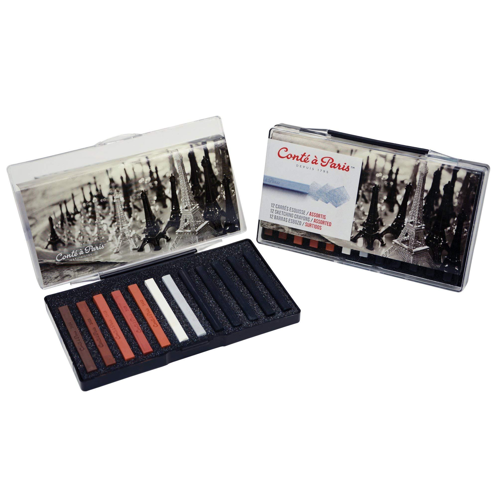 Conté à Paris Sketching Crayons Set with 12 Assorted Colors by Cont  Paris (Image #3)