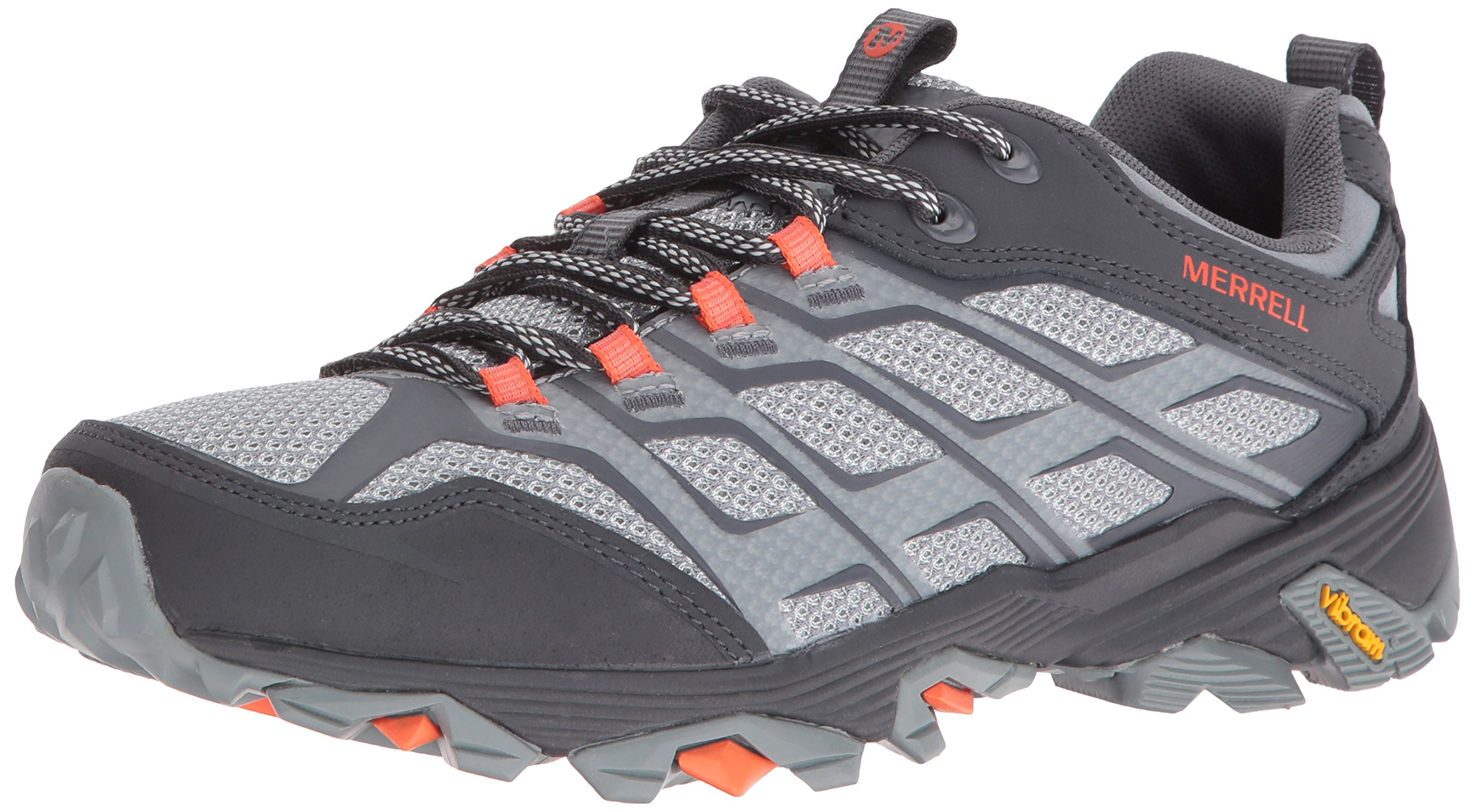 Merrell Men's Moab FST Hiking Shoe, Grey/Orange, 9.5 M US