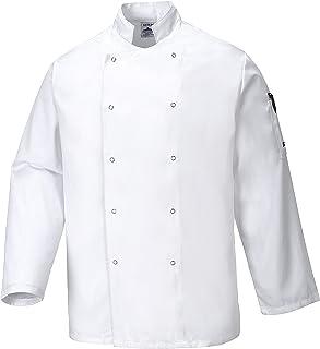 Portwest C833WHRXXXL Giacca da Chef Suffolk, Bianco, 3XL