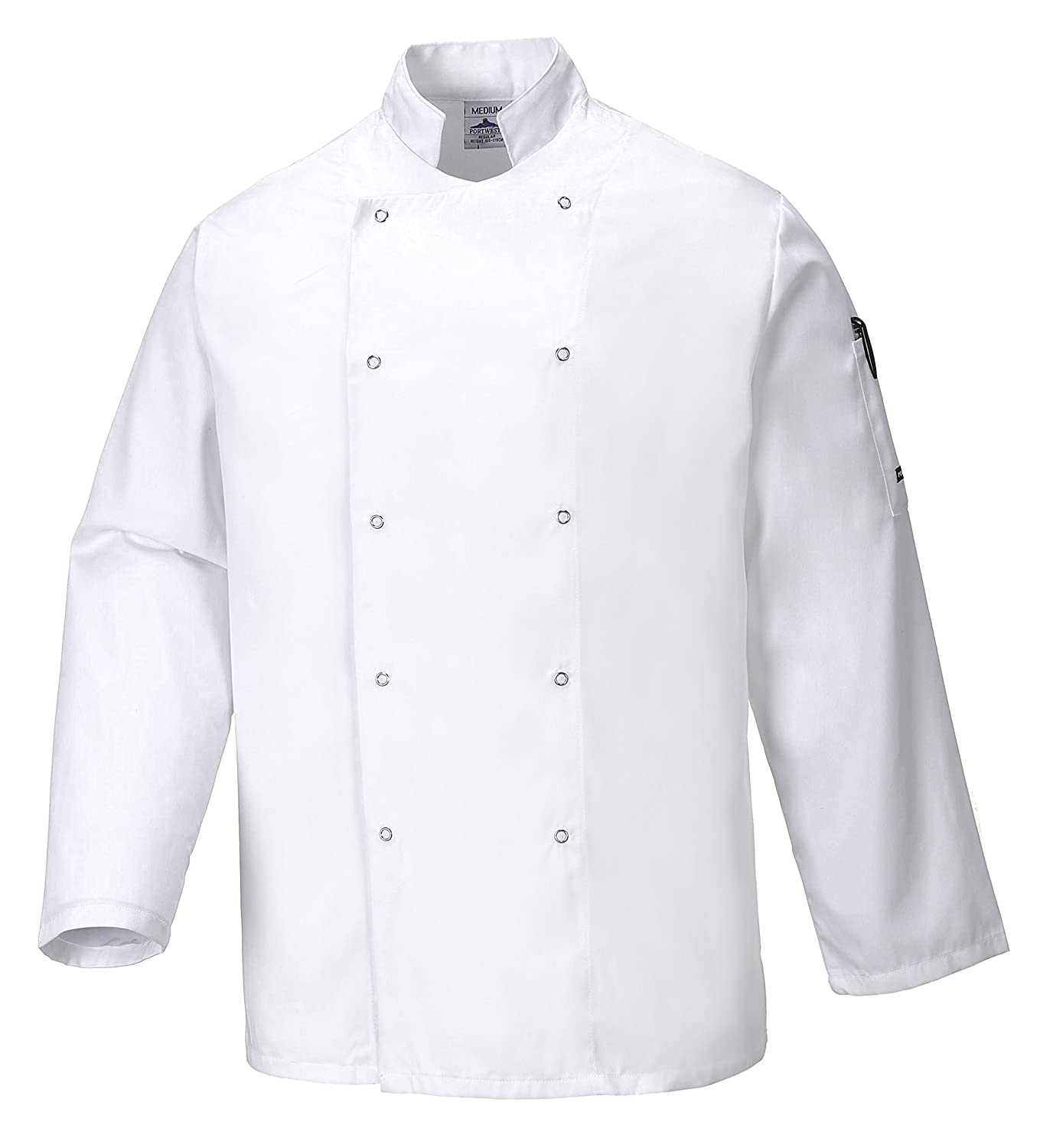 Portwest C833WHRXXXL Giacca da Chef Suffolk, Bianco, 3XL