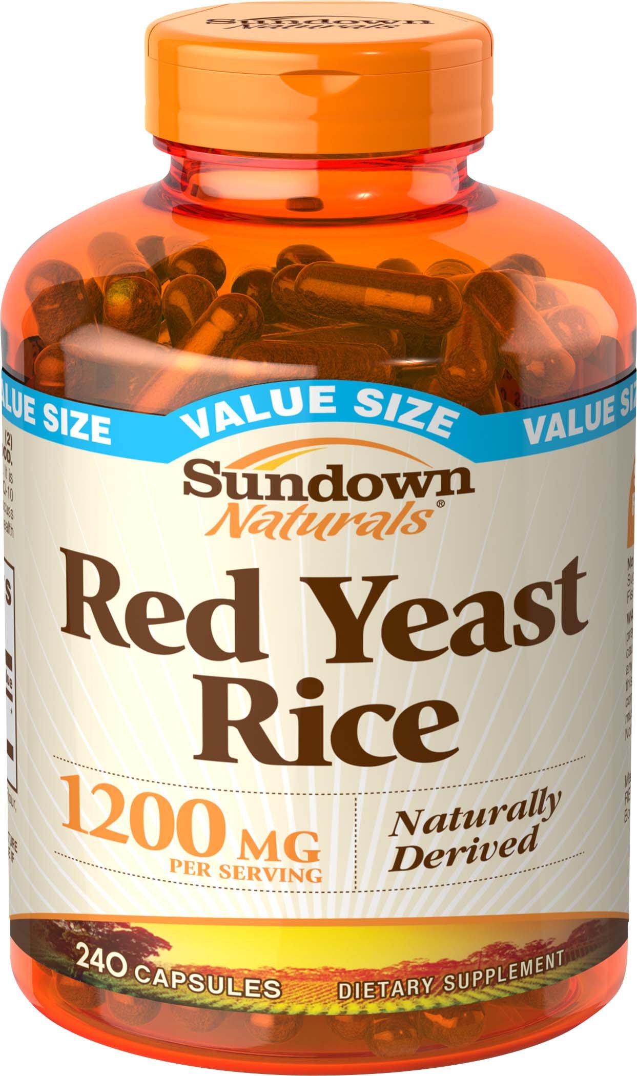 Sundown Naturals Red Yeast Rice 1200 mg 240 Capsules | eBay