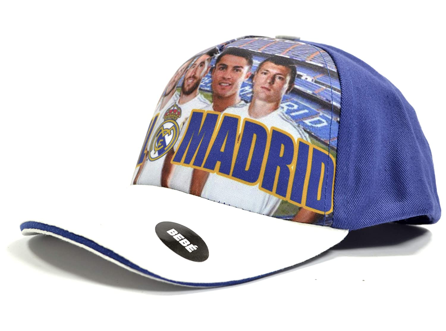 GORRA OFICIAL REAL MADRID AZUL FOTO EQUIPO BEBE COTTON LIKE ...