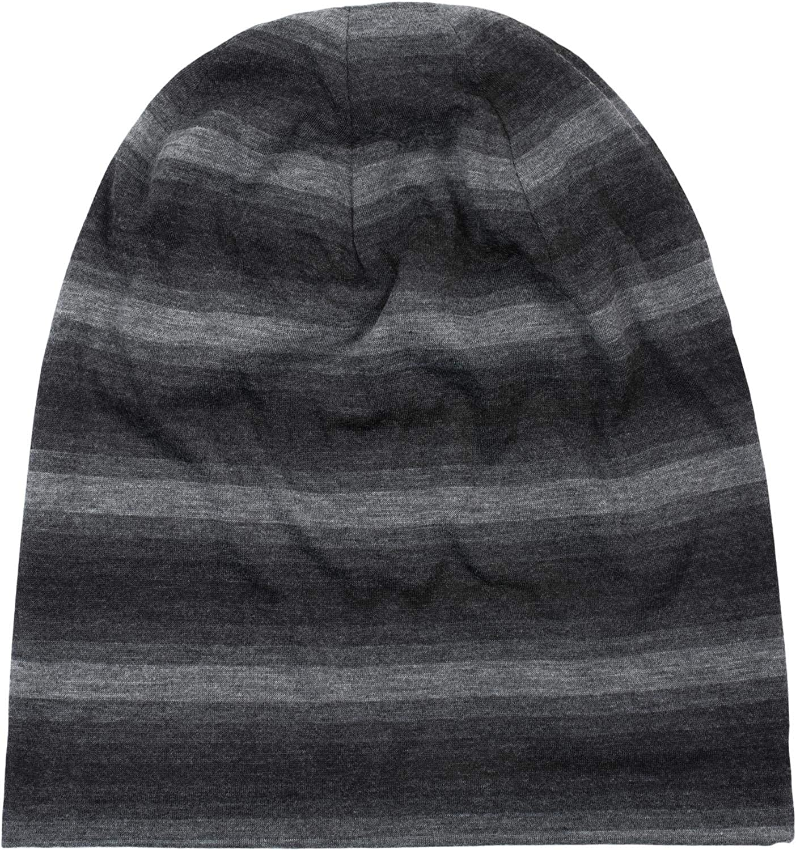 Slouch Longbeanie 04024163 styleBREAKER Unisex Beanie M/ütze mit Streifen Farbverlauf Muster Ton in Ton