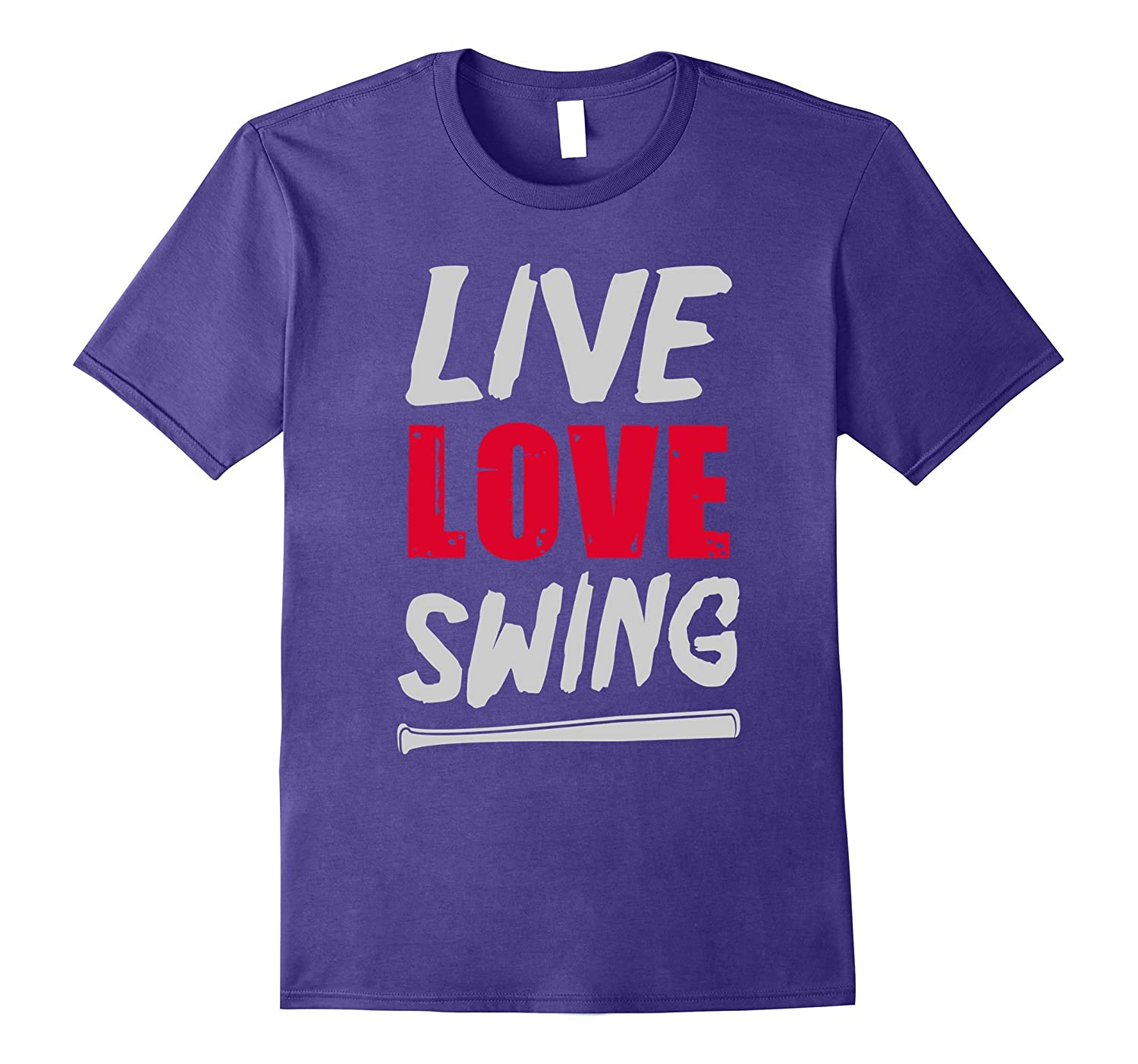 Live Love Swing Baseball Softball T-Shirt-CD