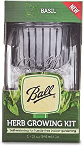 Ball 1440016021 Self-Watering Herb Growing Kit, Clear