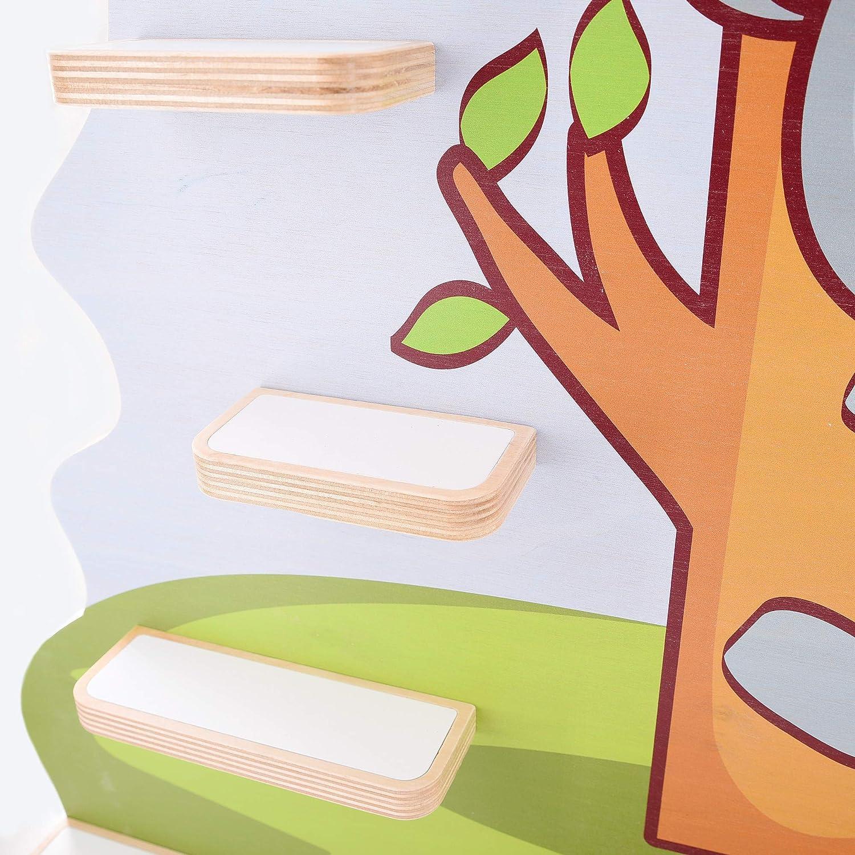Kinder Regal f/ür Musikbox I Motiv Koalab/ärchen I Geeignet f/ür die Toniebox und ca mit breiten Boden 45 Tonies I Geschenk I Geschenkidee I Spielen I Sammeln I Aufstellen oder Aufh/ängen