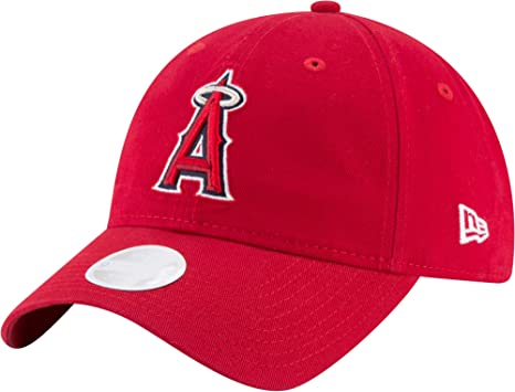 f1ae4887587 Image Unavailable. Image not available for. Color  New Era Women s Los  Angeles Angels 9Twenty Adjustable Hat ...