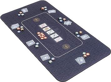 Riverboat Gaming The Broadway tapete de póquer en Verde 140 x 75cm Mesa de póquer Nero (Tablero del póquer: Amazon.es: Juguetes y juegos