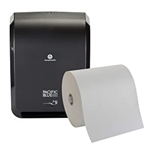 Pacific Blue Ultra Automated Paper Towel Dispenser Starter Kit by GP PRO (Georgia-Pacific), Black, 59535, [Contains 1 Dispenser (59590) and 1 Paper Towel Roll (26491)]