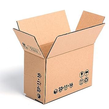 (x30) Cajas de Cartón 23x11x16 cms (Cajita económica) Solapa Doble. Ideal caja postal envíos. TeleCajas: Amazon.es: Oficina y papelería