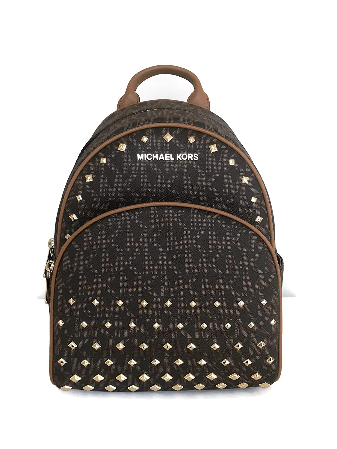 8e0d879c59b8 Amazon.com: Michael Kors Abbey Medium brown Studded Backpack MK Signature  Stud School Bag: Shoes