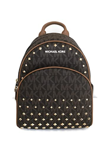 d6f71ccacb5a Amazon.com: Michael Kors Abbey Medium brown Studded Backpack MK Signature  Stud School Bag: Shoes